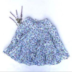 Mini Boden Tiered Floral Midi Skirt Drawstring